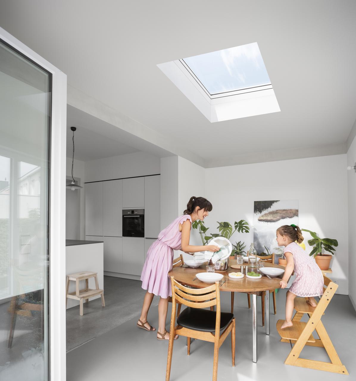 Flachdach fenster konvex glas for Finestre a soffitto