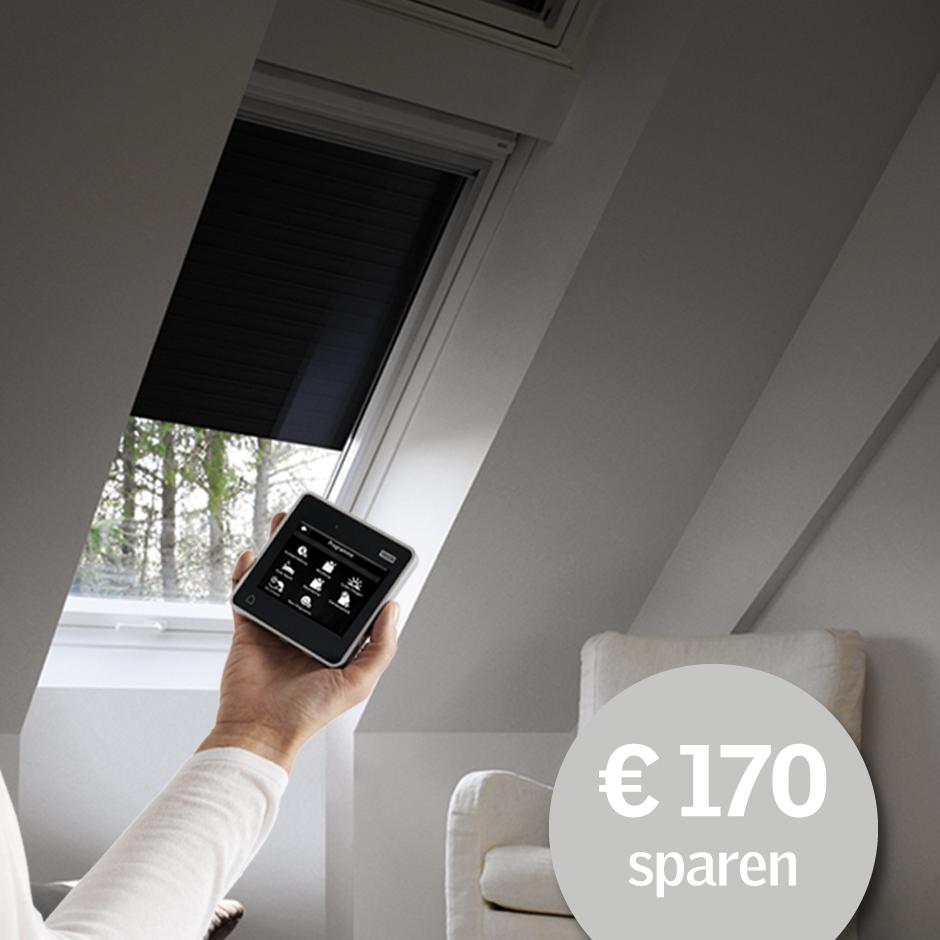 velux dachfenster rollos jalousien plissees markisetten. Black Bedroom Furniture Sets. Home Design Ideas