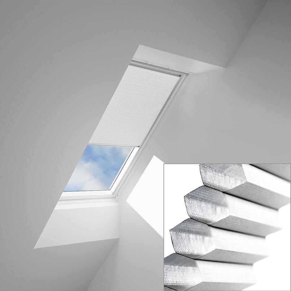 blinds for skylights and roof windows velux. Black Bedroom Furniture Sets. Home Design Ideas