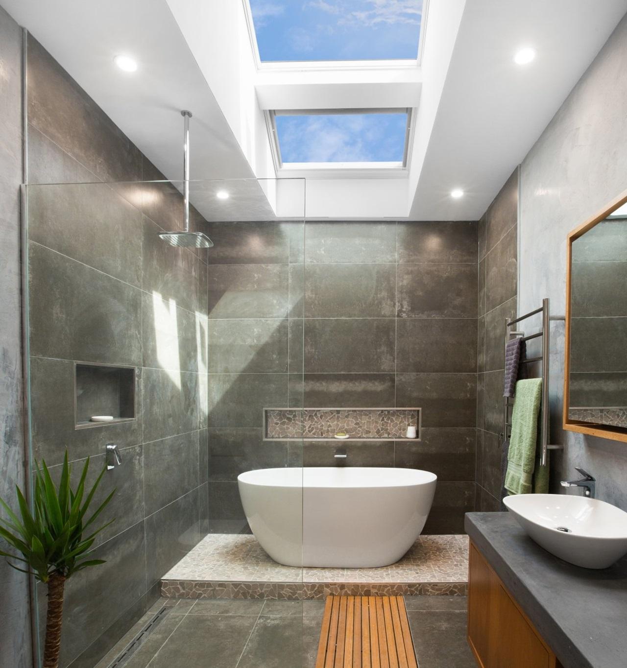 Bathroom Gallery – Skylight in Bathroom