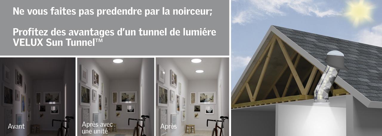 puits de lumière sun tunnel de velux | rigide ou flexible