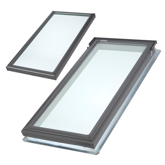 puits de lumière fixe velux | monté sur cadre ou avec cadre intégré