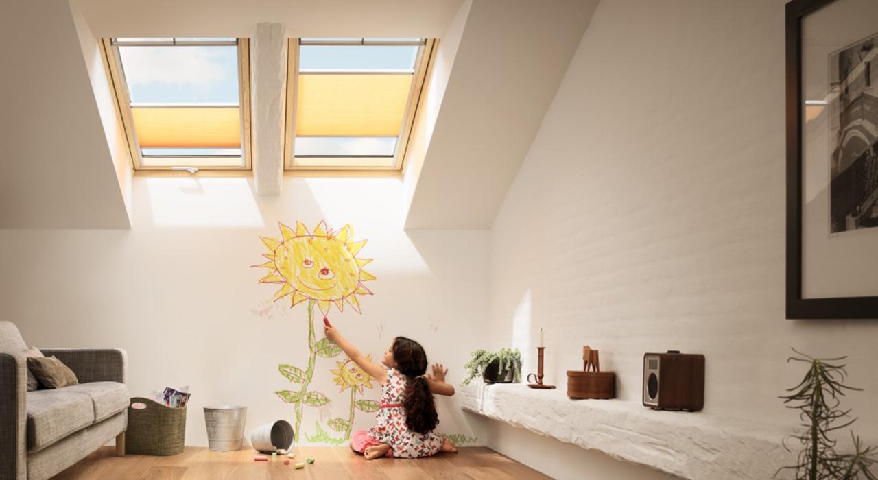 dachausbau ideen für kinderzimmer | velux dachfenster