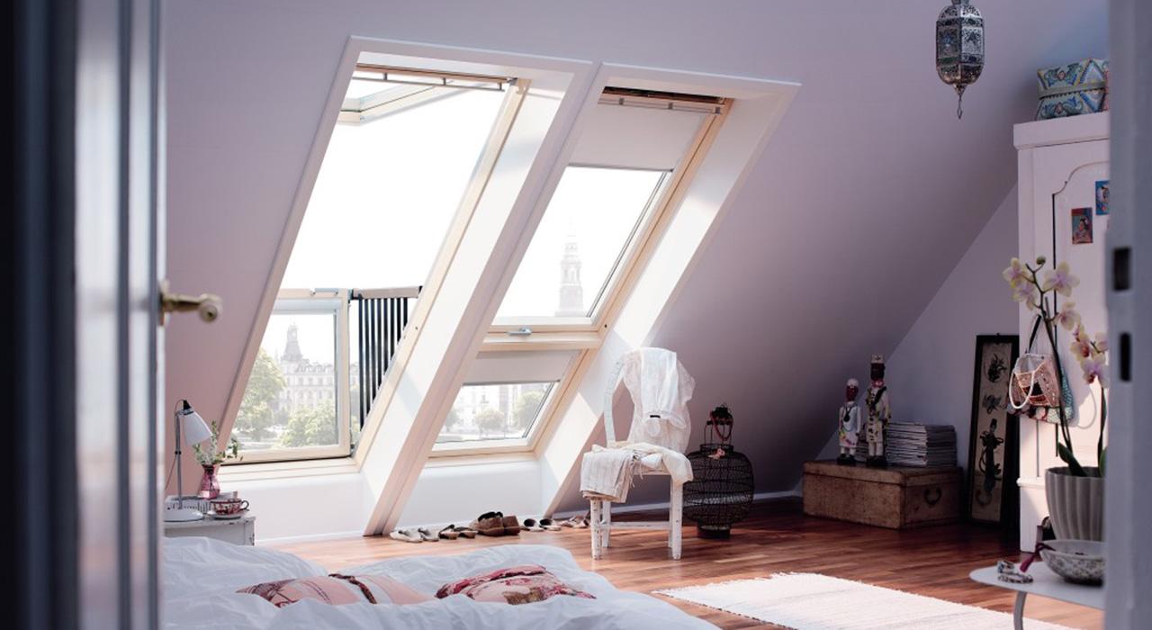 Dachfenster velux cabrio  Dachausbau Ideen für Schlafzimmer | VELUX Dachfenster