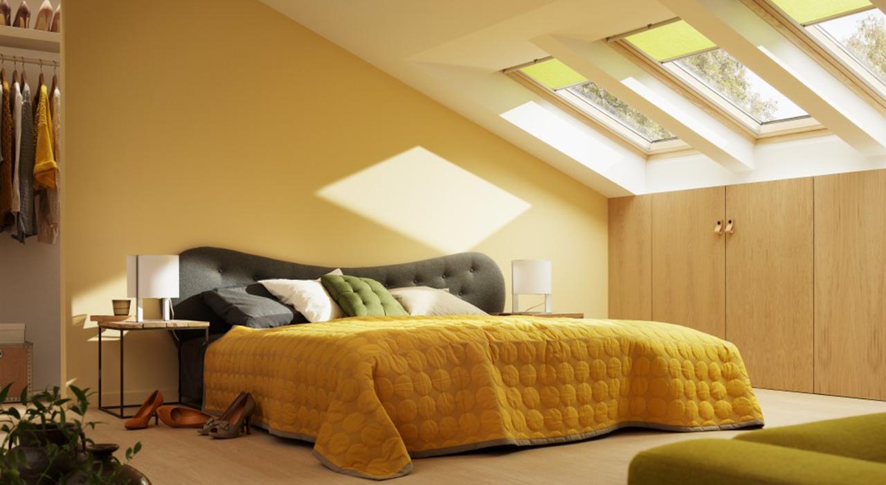 Dachausbau Ideen für Schlafzimmer | VELUX Dachfenster