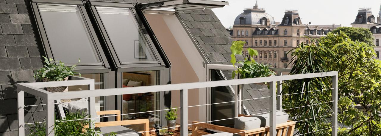 Dachfenster velux cabrio  VELUX Dachbalkon (Dachloggia) | Raum für Wohnideen