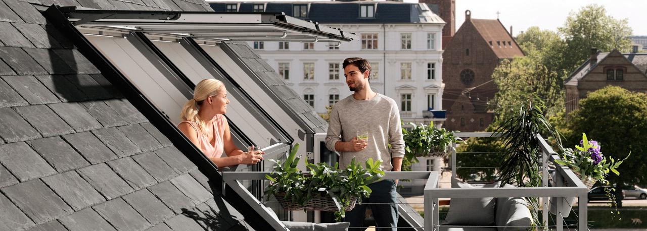 Dachfenster velux cabrio  Vom Fenster zum Dachbalkon oder Dachaustritt | VELUX