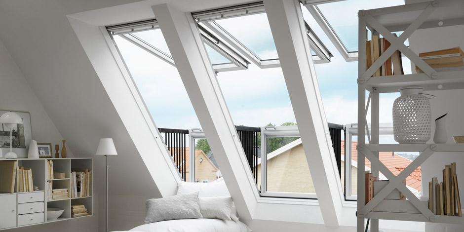 Dachfenster velux cabrio  VELUX CABRIO™ | Vom Dachfenster zum Dachaustritt