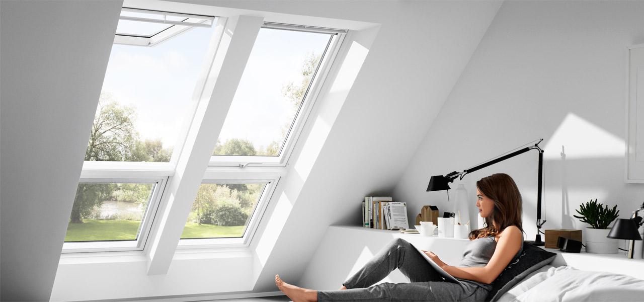 velux dachfenster, flachdachfenster, tageslichtspots, rollläden