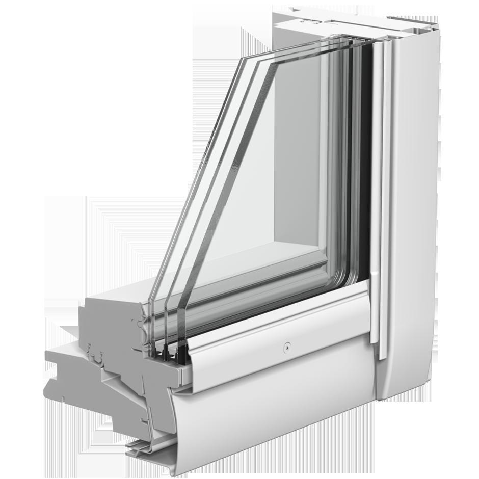 Gpu gpl schwing und klappfenster velux - Dachfenster 3 fach verglasung ...