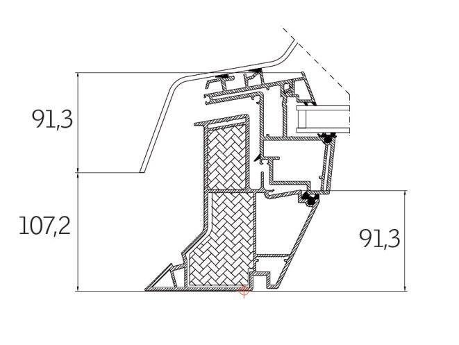 Dettagli tecnici finestra per tetti piani velux per l for Misure lucernari per tetti