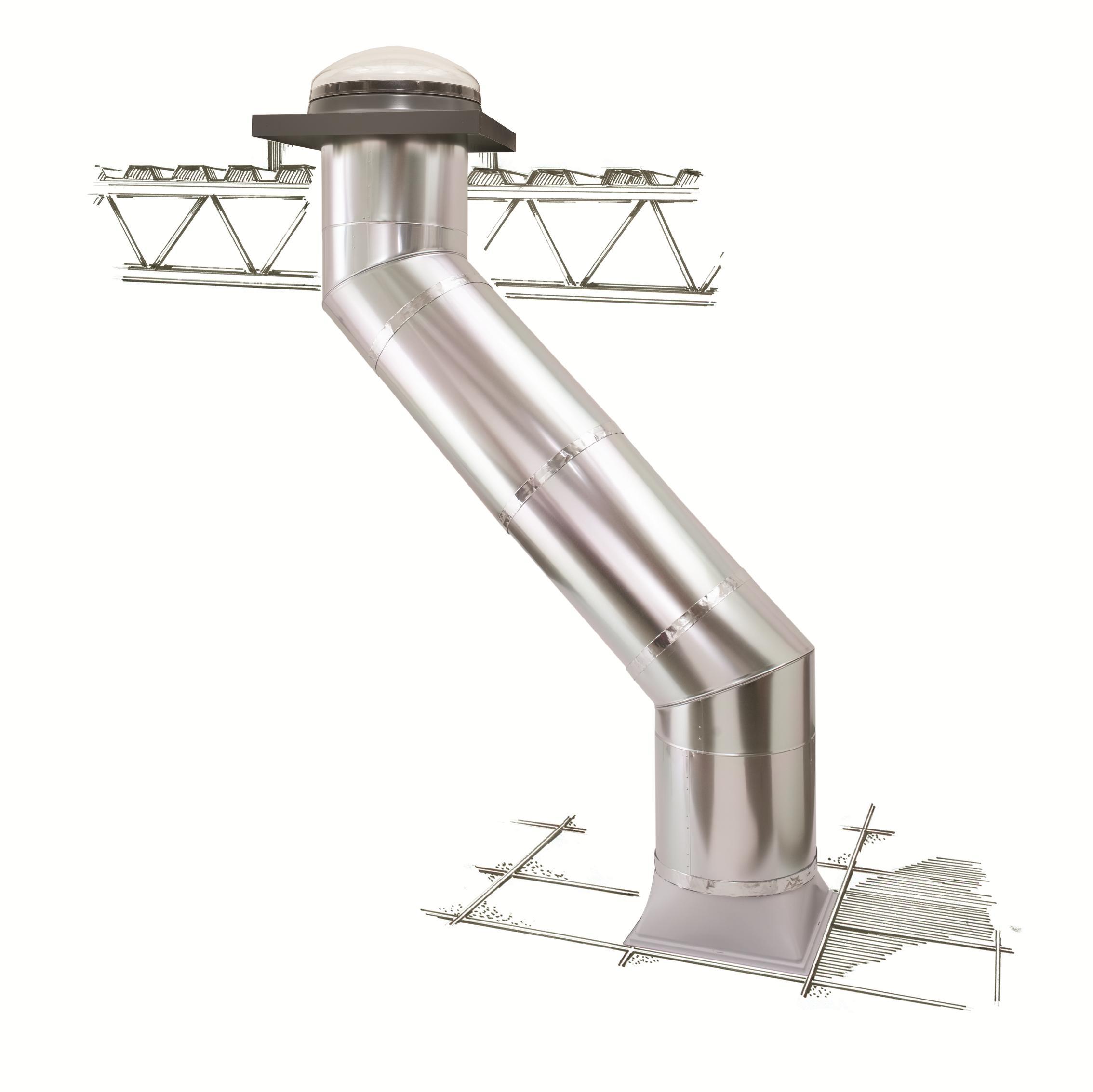 Tunnel solare velux soluzioni per tetti a falda e tetti for Velux tetto piano