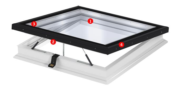 Finestra per tetti piani con vetro piano for Tabella misure velux