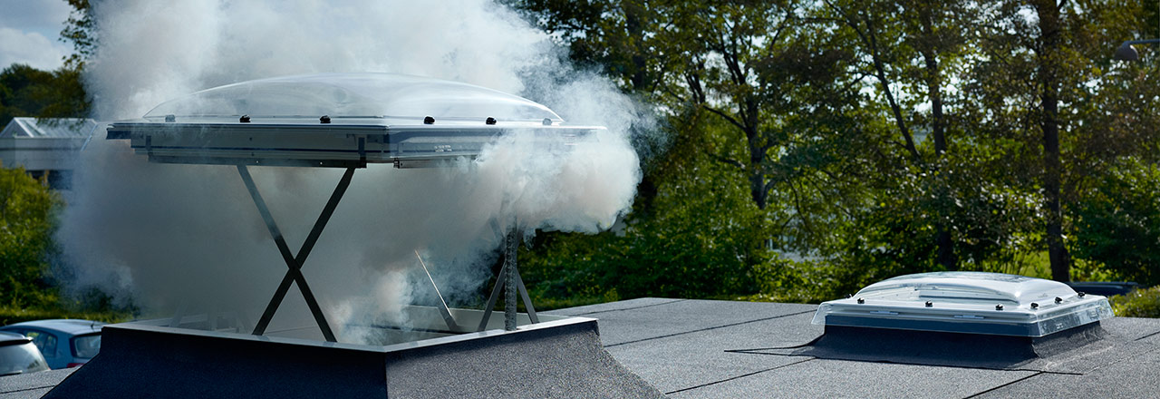 Velux Flat Roof Smoke Vent Dome