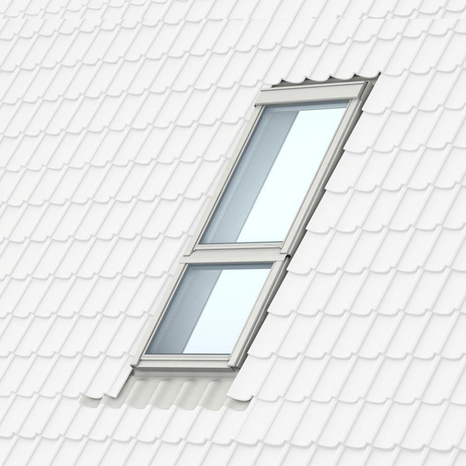 Velux lement vitr fixe et de fa ade combiner avec une for Remplacer une fenetre de toit