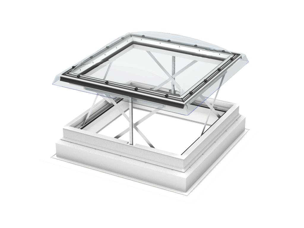 Finestra per tetti piani velux per l 39 evacuazione di fumo e for Piani di cupola pdf