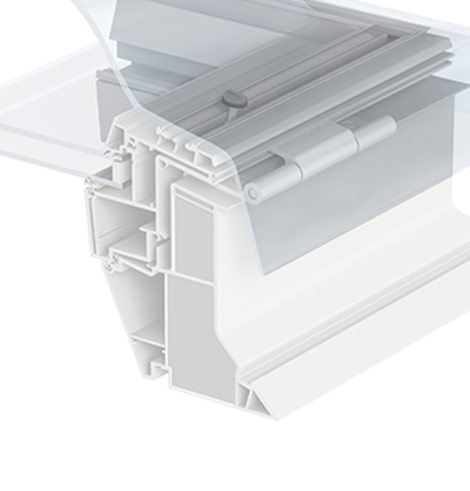 Velux flat roof emergency exit dome for Velux in pvc