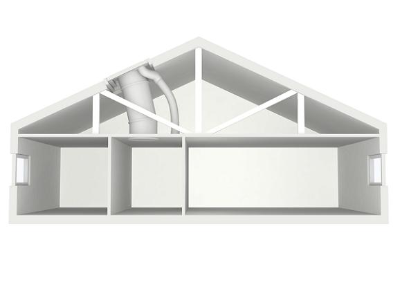 tunnel solare velux soluzioni per tetti a falda e tetti piani. Black Bedroom Furniture Sets. Home Design Ideas