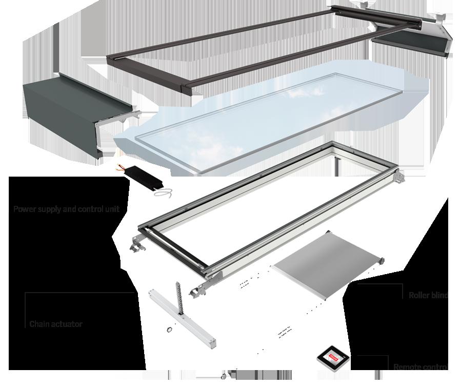 Velux modulaire lichtstraten technische specificaties - Verriere dak ...