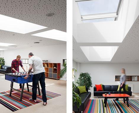 Referentiecases lessenaarsdak velux modulaire lichtstraten - Modulaire kamer ...