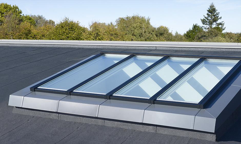Verri res modulaires velux pour l 39 habitat en toit plat velux - Verriere de toit prix ...