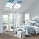 Bedroom with Solar 'Fresh Air' Skylight vented