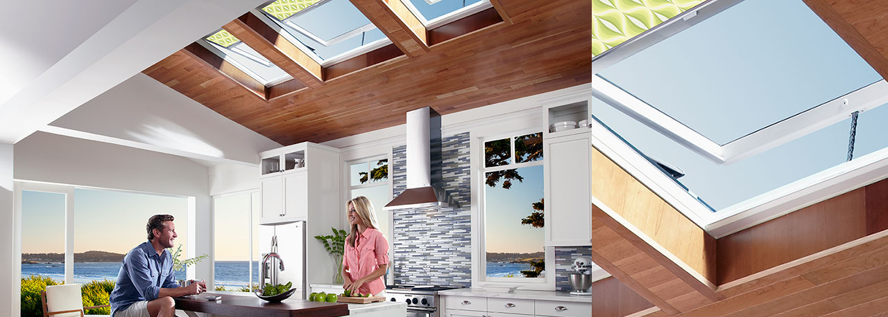kitchen skylights with blinds