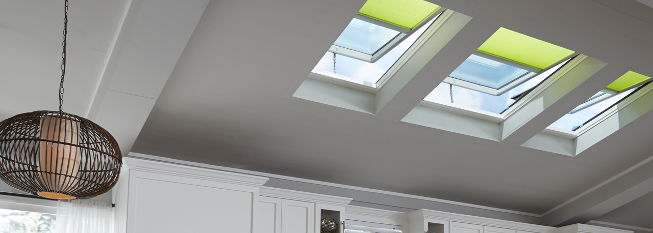 Velux electric fresh air skylight curb or deck mounted for How to clean velux skylights