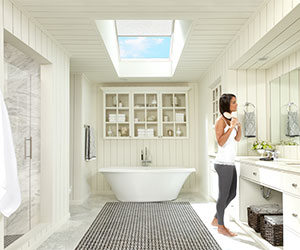 VELUX Skylight Filled The Bathroom With Daylight And Fresh Air