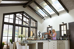 VELUX Skylights Filled The Kitchen With Daylight And Fresh Air