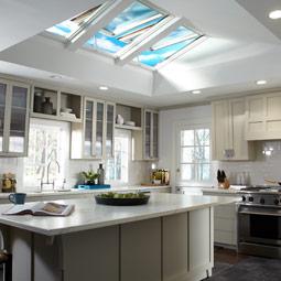 Kitchen With VELUX Skylights