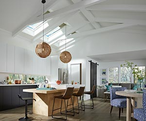 VELUX Solar Powered Fresh Air Skylights Filled The Kitchen With Daylight  And Fresh Air