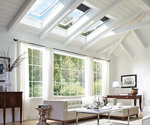 Nice VELUX Skylight Brighten The Living Room