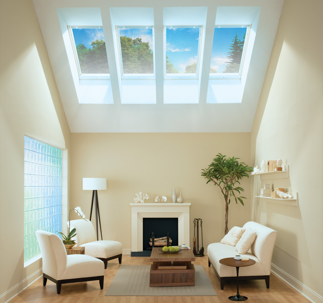 Velux living room inspiration gallery for How to clean velux skylights