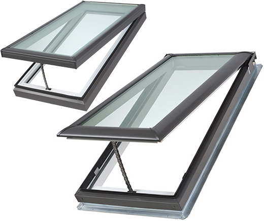 Velux Manual Fresh Air Skylight Curb Or Deck Mounted