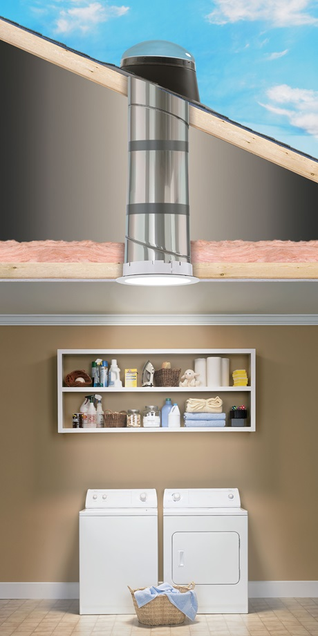 Velux sun tunnel skylights flexible and rigid velux rigid sun tunnel brighten up the laundry room workwithnaturefo