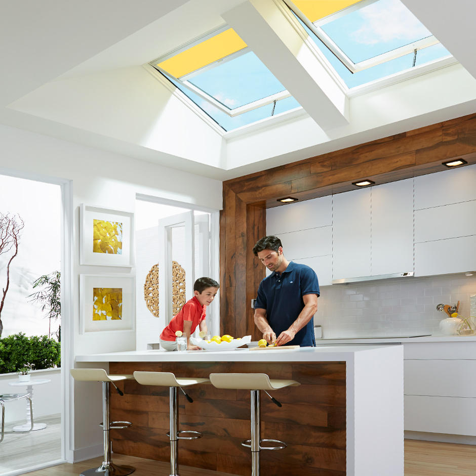25 Captivating Ideas For Kitchens With Skylights: Factory Installed - Special Order
