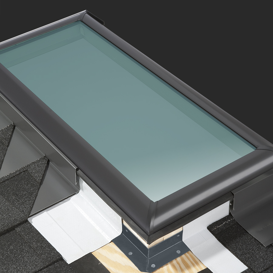 velux skylight flashing systems for roofs deck and curb. Black Bedroom Furniture Sets. Home Design Ideas