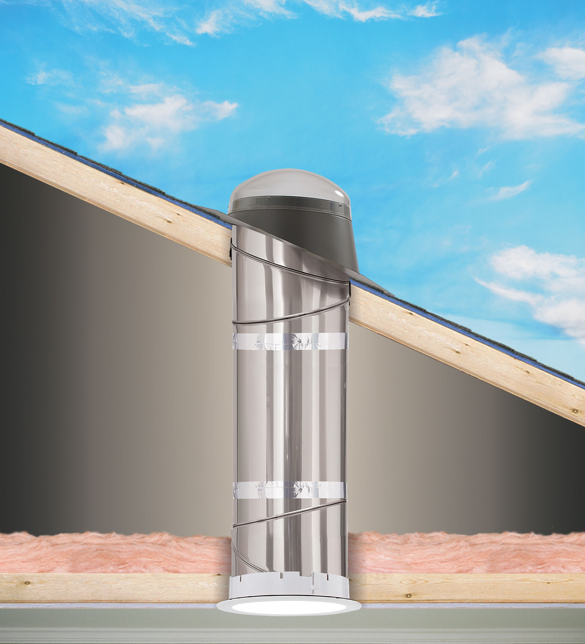 Velux sun tunnel rigid skylights pitched low profile for What is a sun tunnel
