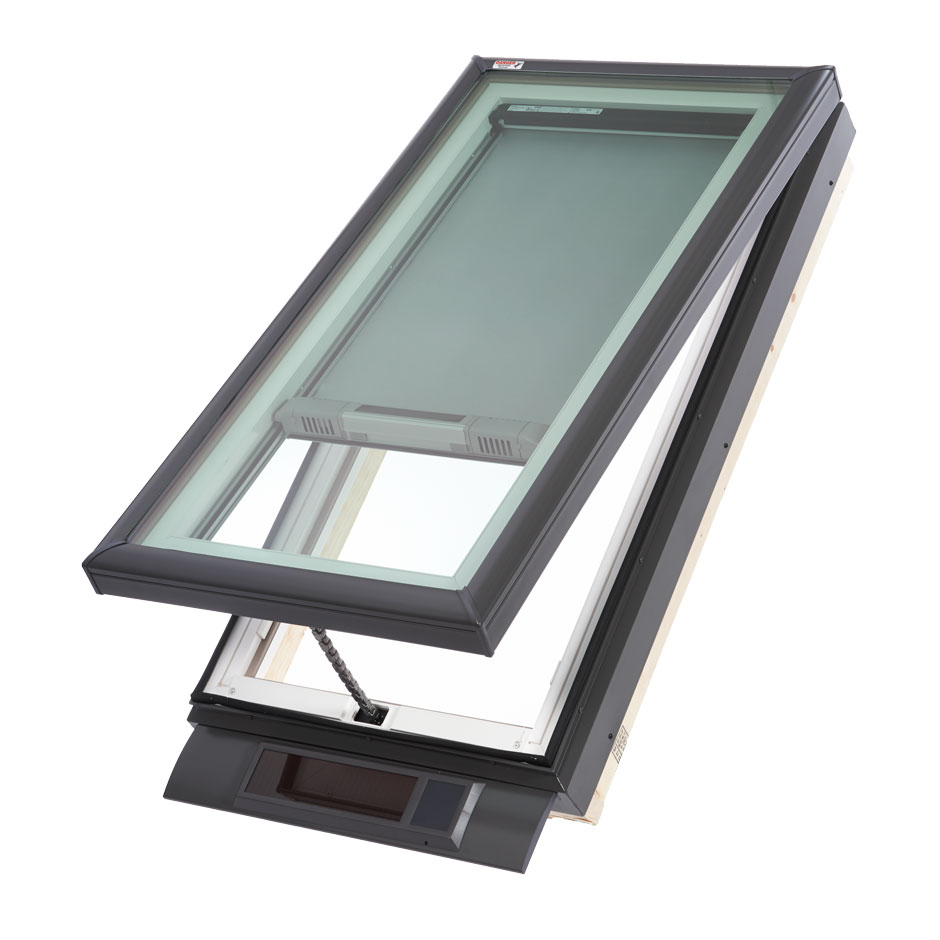 Velux solar powered fresh air skylight curb mounted for Velux fresh air skylight