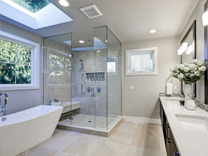 Captivating Skylights Filled The Bathroom With Daylight