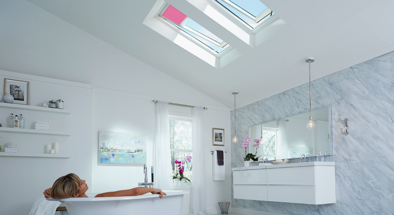Velux bathroom inspiration gallery of images for Velux skylight remote control manual