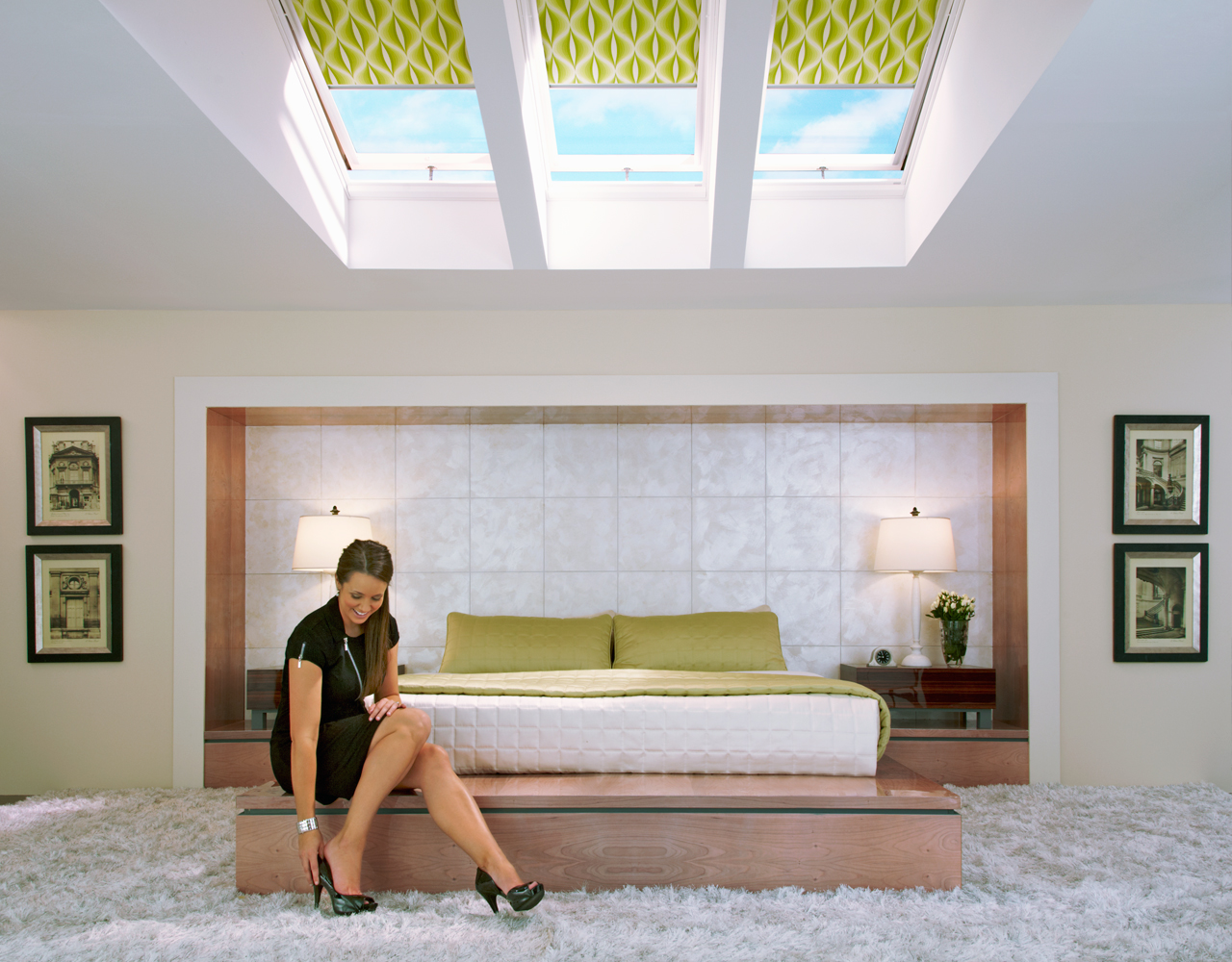 Velux bedroom inspiration gallery of images for Bedroom skylight