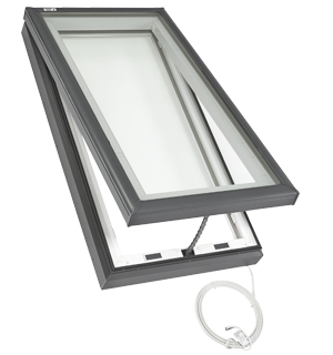 Velux electric fresh air skylight curb or deck mounted for Velux fresh air skylight