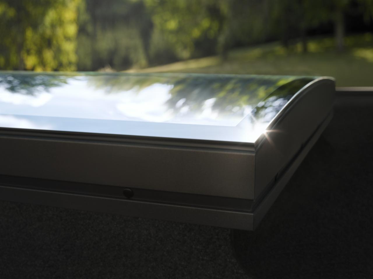 flachdach-fenster konvex glas