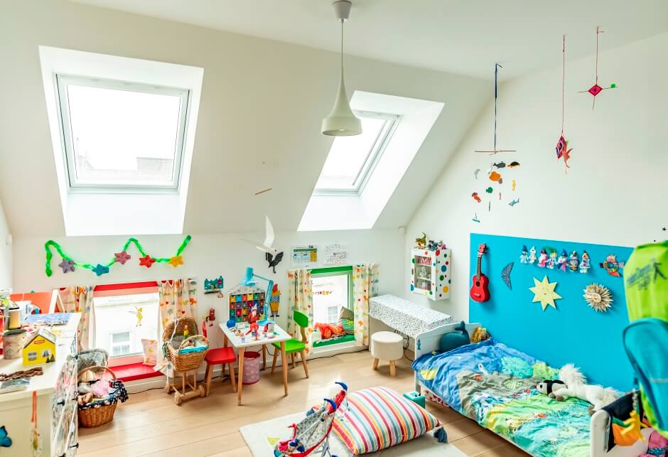 Homestory Kinderzimmer Smart Home VELUX Dachfenster VELUX ACTIVE