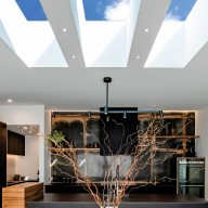 flat roof skylights in the kitchen in sydney