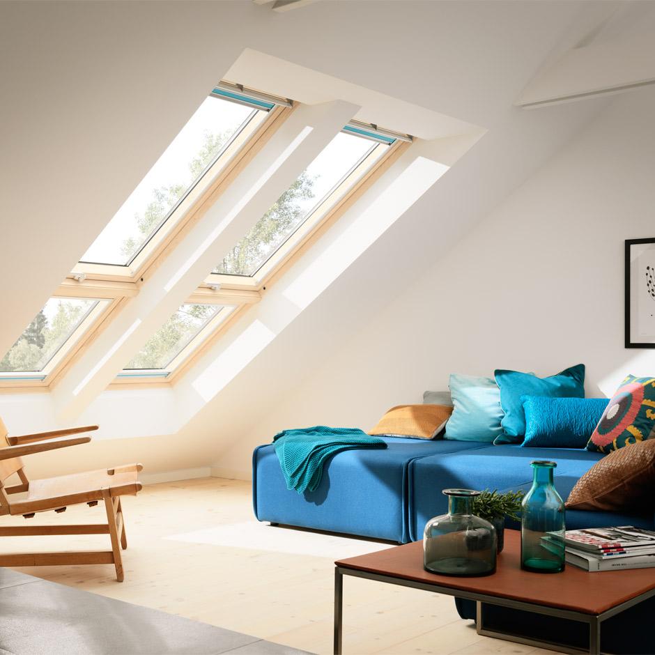 VELUX Fachkunden  Lichtlösung QUARTETT - Dachfenster-Kombi