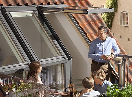 Velux Acces Vers Terrasse De Toit Creez De L Espace Et De La Lumiere
