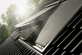 VELUX soft shutters run in aluminium side rails and have a sleek top casing that forms an integrated part of your roof, regardless of roofing materials.